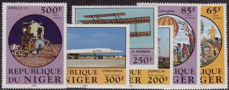 NIGER MNH Scott # C318-C323 Air & Space Ships (6 Stamps)