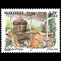 MAYOTTE 2000 - Scott# 142 Ylang Distillery Set of 1 NH