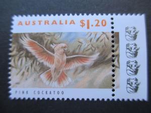 AUSTRALIA 1992 SG 1370 $1.20 MAYOR MITCHELL COCKATOO, 4 x KOALA REPRINT RS MNH