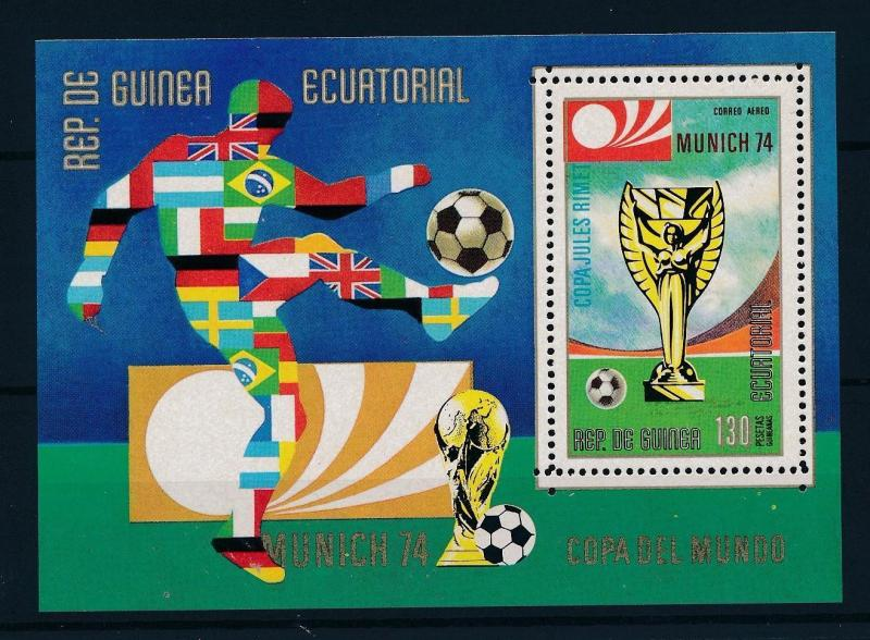 [45042] Equatorial Guinea 1973 World Cup Soccer Football Germany MNH Sheet