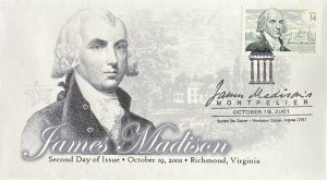 FPMG 3545 James Madison Montpelier Virginia CXL Second Day Cover