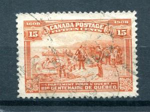 Canada #102  Used  F-VF   - Lakeshore Philateics