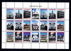[SUV1542] Surinam 2008 Monumental buildings Miniature sheet MNH