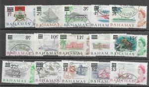 Bahamas #230-244 Used - Stamp Set - CAT VALUE $22.13