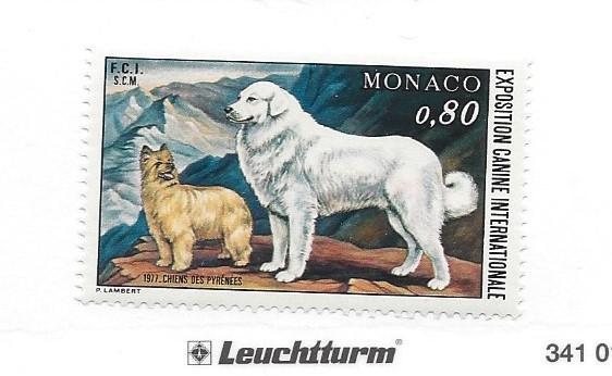 Monaco, 1059, Int'l Dog Show 1977 Single, **MNH**