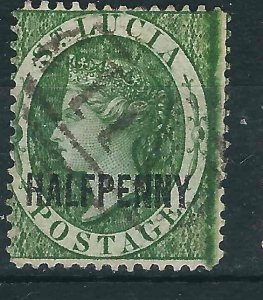 St. Lucia 19 SG 25 Used F/VF 1883 SCV $50.00