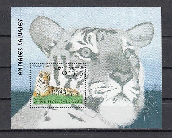 Sahara, 1997 Cinderella issue. Tiger s/sheet.