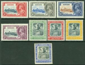 EDW1949SELL : BARBADOS 1906-35 Scott #103-06, 186-89 VF, Mint OG. Catalog $70.00