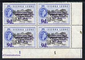 Sierra Leone 1963 Postal Commemoration 9d on 1.5d (Piassa...
