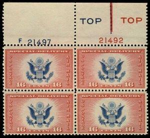 MALACK CE2 F/VF  OG NH, RARE TYPE 3,  super plate, T..MORE.. pb3138