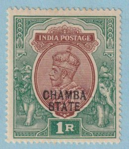 INDIA - CHAMBA STATE 43  MINT  HINGED OG * NO FAULTS  EXTRA FINE !