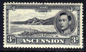 Ascension Island 1940 KGV1 3d Black & Grey MM SG 42a ( R416 )