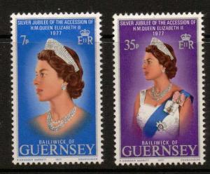 GUERNSEY SG149/50 1977 SILVER JUBILEE MNH