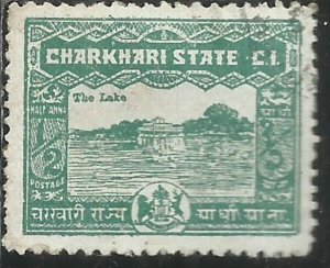 CHARKHARI STATE INDIA INDE 1931 GUESTHOUSE OF RAJA AT CHARKHARI RESERVOIR 1/2...