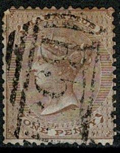 MAURITIUS QV 1863-72 1d BROWN VERY FINE USED SG57 Wmk.CROWN CC VGC