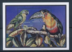 [35851] Liberia 2001 Birds Vögel Oiseaux Ucelli   MNH Sheet