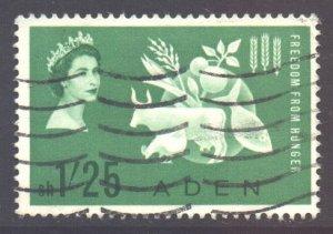 Aden Scott 65 - SG76, 1963 Freedom from Hunger 1/25 FFH used