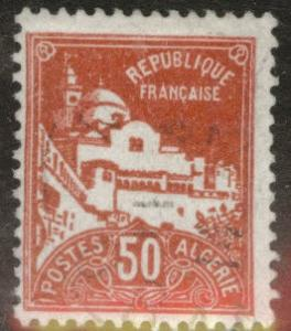 ALGERIA Scott 50 used stamp from 1926-1939 set