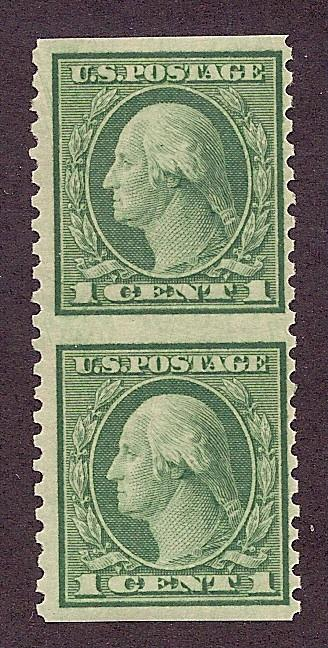 538a MNH,  1c. Washington, Imperf Pair,  scv: $125