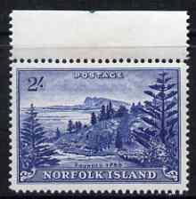 Norfolk Island 1959 Ball Bay 2s deep blue unmounted mint,...