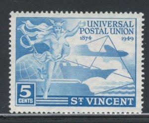 St. Vincent 1949 UPU Omnibus Issue 5c Scott # 170 MNH