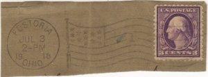 USA uncommon pmk 1918 Fostoria OH flag