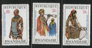RWANDA Scott 343-345 MH* short set