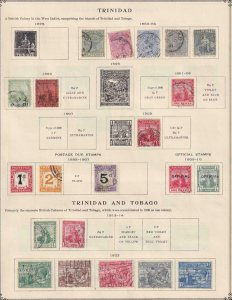 TRINIDAD TURKS AND CAICOS   INTERESTING COLLECTION ON ALBUM PAGES - Y798