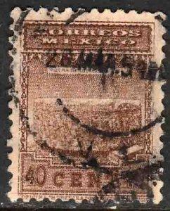 MEXICO 848 40¢ 1934 Definitive Wmk Gobierno...279 Used. F-VF. (929)