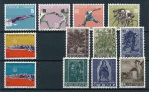Liechtenstein 1958 Complete Year Set MNH