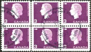 CANADA #403 USED BLOCK OF 6