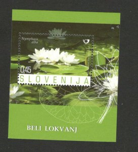 SLOVENIA - MNH BLOCK - FLOWERS - white water lily - 2007.