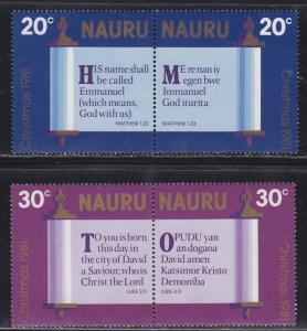 Nauru MNH 236-9 Pairs Christmas 1981