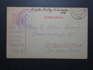 Austria 1916 Pre-Printed Feldpost Card to Germany / Censored - Z11302