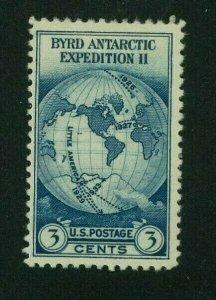 US 1933 3c dark blue Byrd Antarctic Issue, Scott 733 Mint Hinged, Value = 50c
