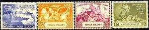 UPU, Universal Postal Union 75th Anniv, Virgin Islands SC#92-95 MNH set