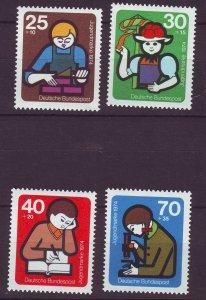 J24334 JLstamps 1974 germany set mnh #b508-11 young builders