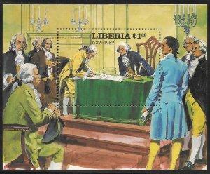 Liberia Mint Never Hinged ~ Souvenir Sheet ~ [9196]