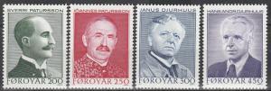 Faroe Is #108-11  MNH CV $3.90 (S2655L)