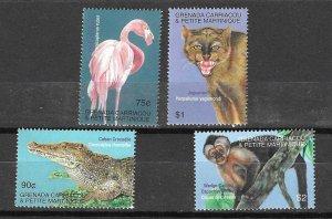 Grenada MNH Set Of Animals Birds Fauna