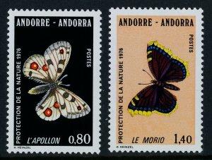 Andorra Fr 251-2 MNH Butterflies