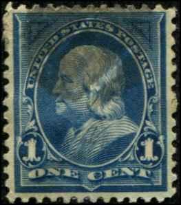 USA SC# 246 Franklin 1c  Used SCV $ 7.00