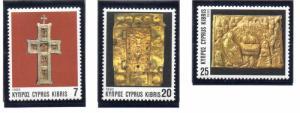 Cyprus Sc 824-6 1993 Christmas stamp set mint NH