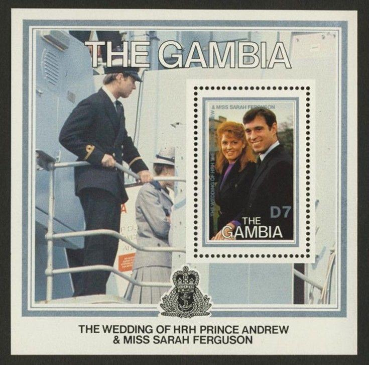 Gambia 638 MNH Andrew & Sarah Wedding, Royalty, Crest