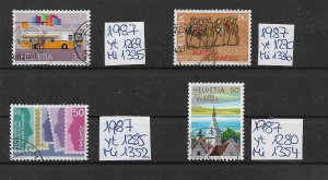 Switzerland used 1987  several issues