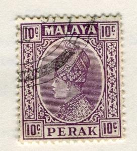 MALAYA PERAK 1935 early Sultan issue fine used 10c. value