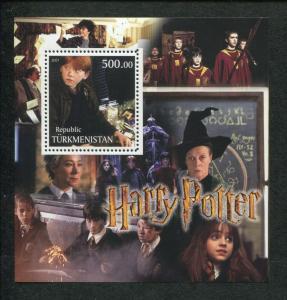 Turkmenistan Harry Potter Ron Weasley Commemorative Souvenir Stamp Sheet