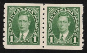 CANADA - KGVI Coil Stamps 1937 SC238 Pair Mint NH