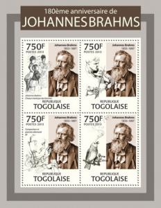 TOGO 2013 SHEET BRAHMS COMPOSERS tg13306a