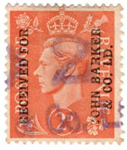 (I.B) George VI Commercial Overprint : John Barker & Co Ltd